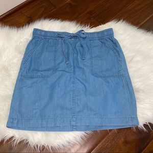 Tommy Hilfiger Chambray Denim Skirt Size 4